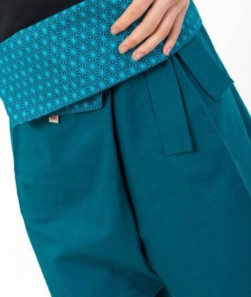 Pantalon Thaï STAR bleu