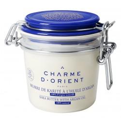 Beurre de karité à l'argan non parfumé - pot terrine- 200 gr
