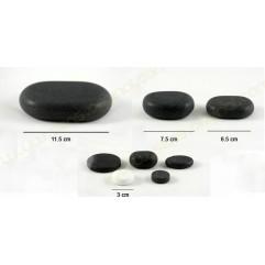 Coffret de 50 pierres en basalte