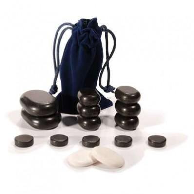 Coffret de 16 pierres pour le massage
